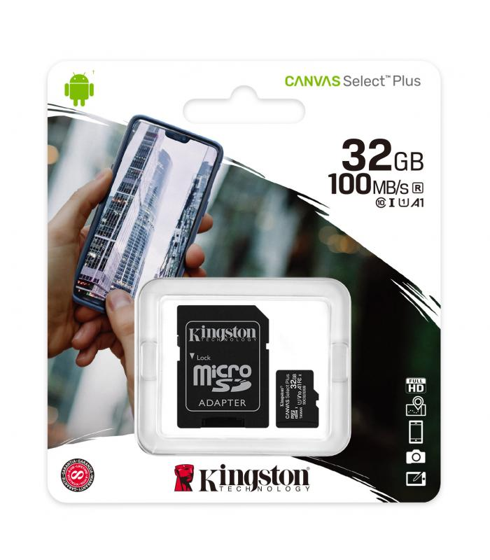 Kingston 32GB microSDXC Canvas Select Plus A1 Class 10