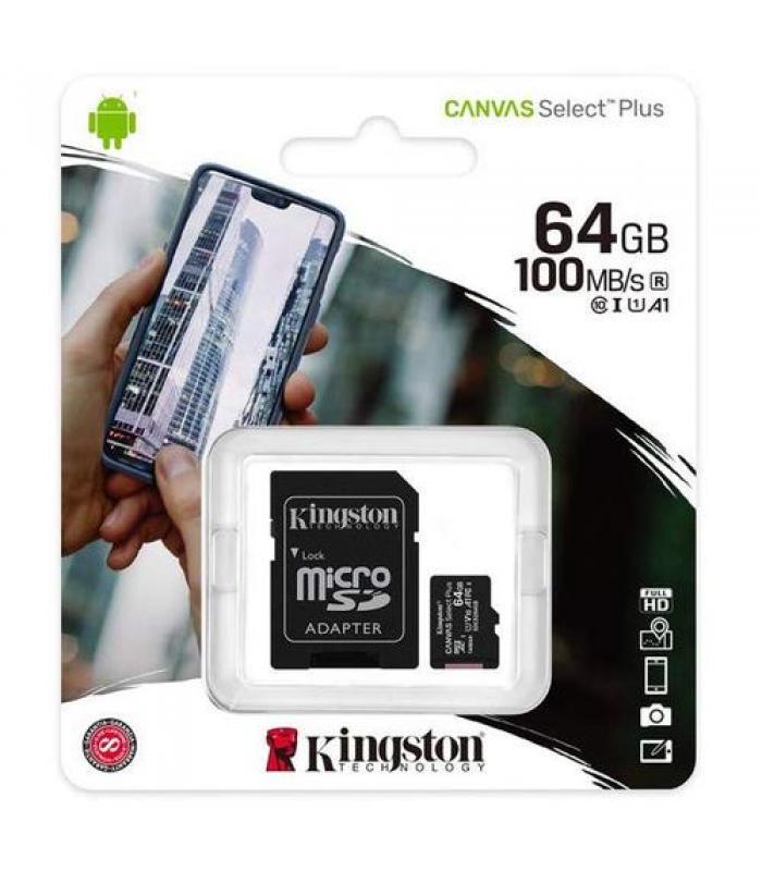 Kingston 64GB microSDXC Canvas Select Plus A1 Class 10
