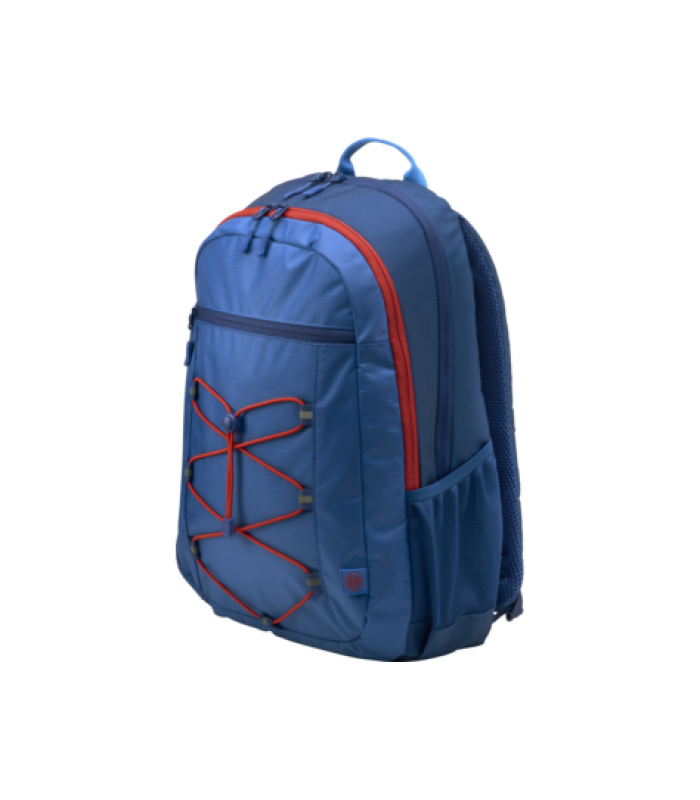 """HP 39.62 cm (15.6"""") Active Backpack (Marine Blue/Coral Red)"""