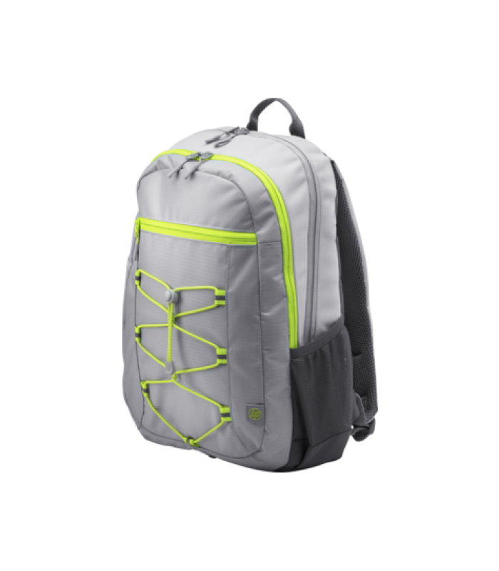 """HP 39.62 cm (15.6"""") Active Backpack (Grey/Neon Yellow)"""
