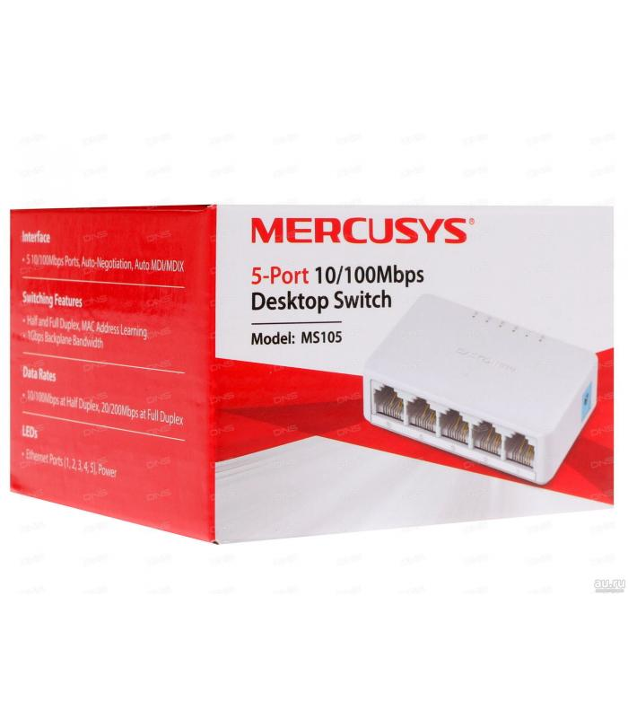 Mercusys 5-Port 10/100 Mbps Unmanaged Switch