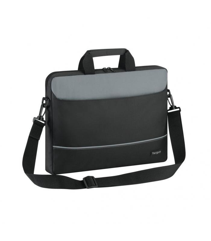"Targus Intellect 15.6"" Topload Laptop Case - Black-Grey"